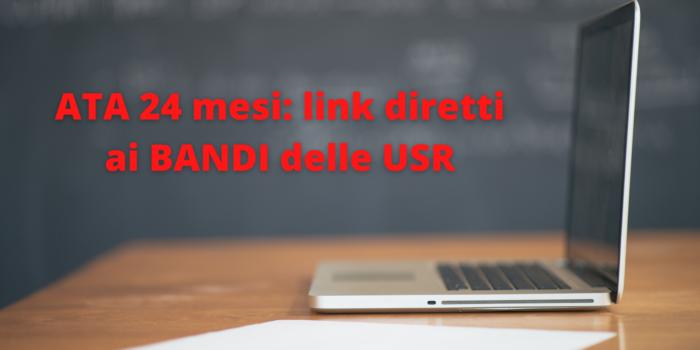 ATA 24 mesi, domanda dal 23 aprile: link diretti ai BANDI delle USR